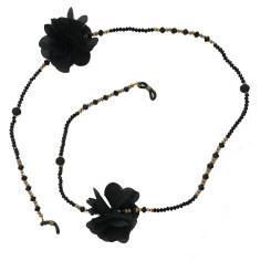بند عینک مهسیما مدل BLACKFLOWER