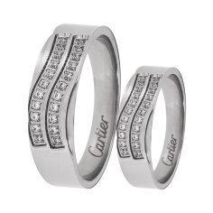 ست انگشتر زنانه و مردانه  مون لایت کد R2221