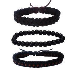 دستبند مردانه کد Mhr-57 مجموعه سه عددی