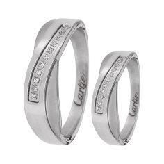 ست انگشتر زنانه و مردانه  مون لایت کد R2229