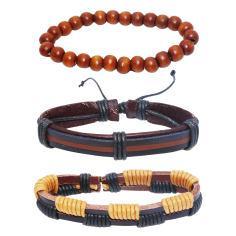 دستبند مردانه کد 058 مجموعه 3 عددی