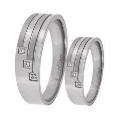 ست انگشتر زنانه و مردانه  مون لایت کد R2222