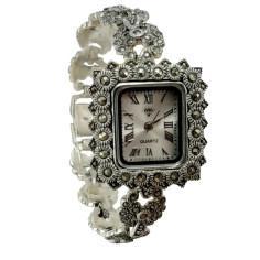 ساعت مچی عقربه ای نقره زنانه کد DN108