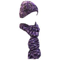شال و کلاه دست بافت زنانه مدل J8