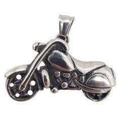 آویز گردنبند مردانه طرح موتورسیکلت کد P3